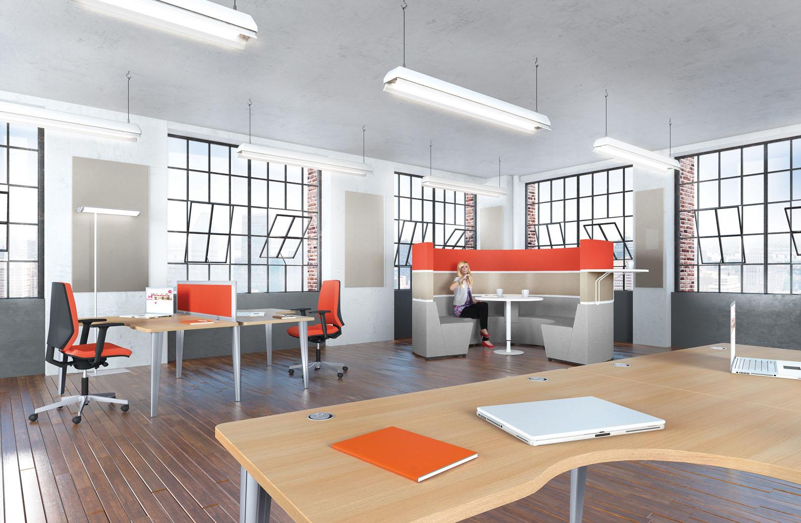 Mobilier bureau service for Mobilier bureau 4 postes
